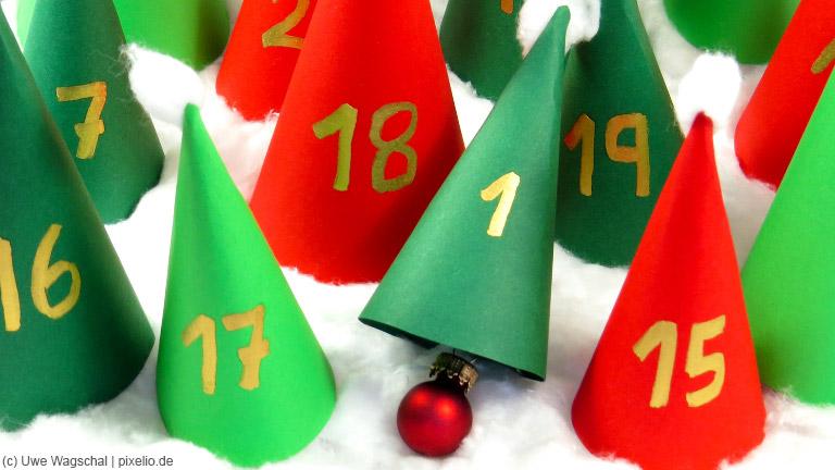 Der Adventskalender versüßt den Kindern das Warten auf das Weihnachtsfest