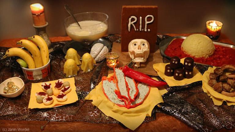 Ein unvergesslich schauriges Halloween-Buffet