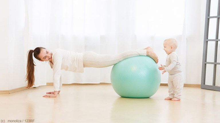 Nach der Schwangerschaft zählt gemäßigter Sport