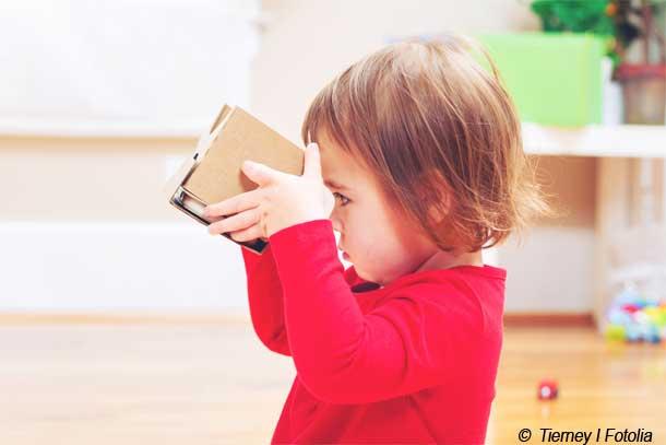 Innerhalb des ersten Jahres erlangen Kinder ihre vollständige Sehkraft