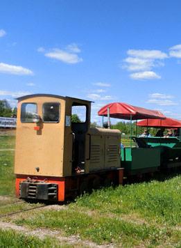 Tonlorenbahn im Ziegeleipark Mildenberg