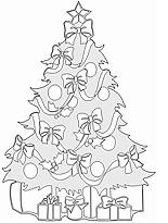 Malvorlage für einen Tannenbaum