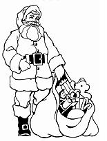 Malvorlage mit Weihnachtsmannmotiv