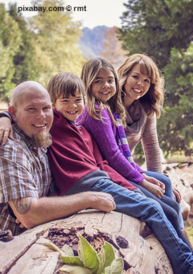 Familie im Urlaub in Dänemark