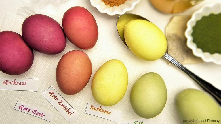 Ostereier selbst färben mit Naturfarben