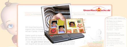 Die eigene Baby-Homepage gestalten