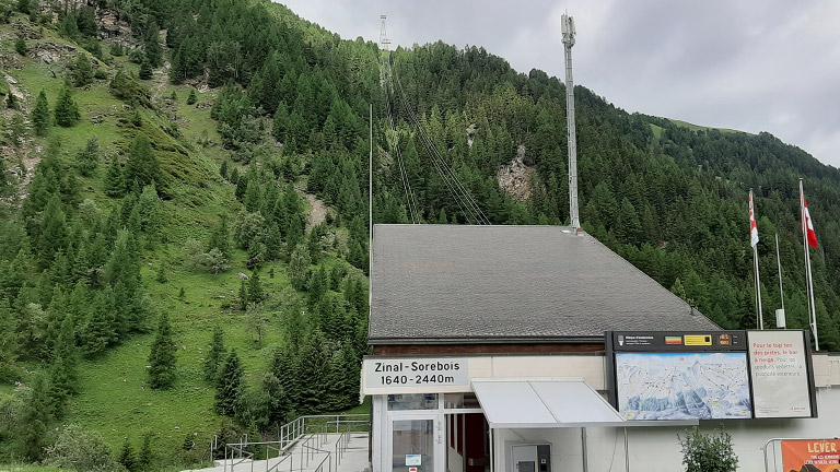 Kabinenbahn Zinal-Sorebois