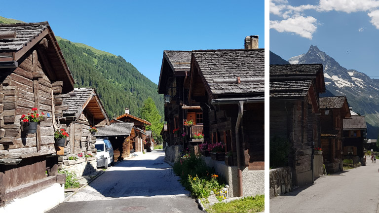 Zinal: uriges Bergdorf im Val d'Anniviers