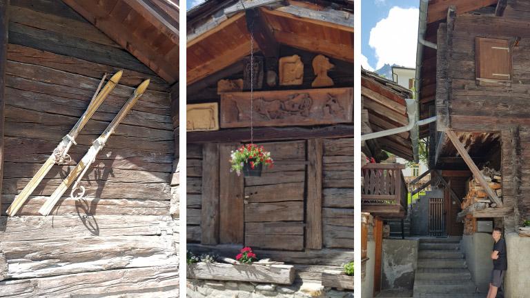 Bauernhäuser im Wallis