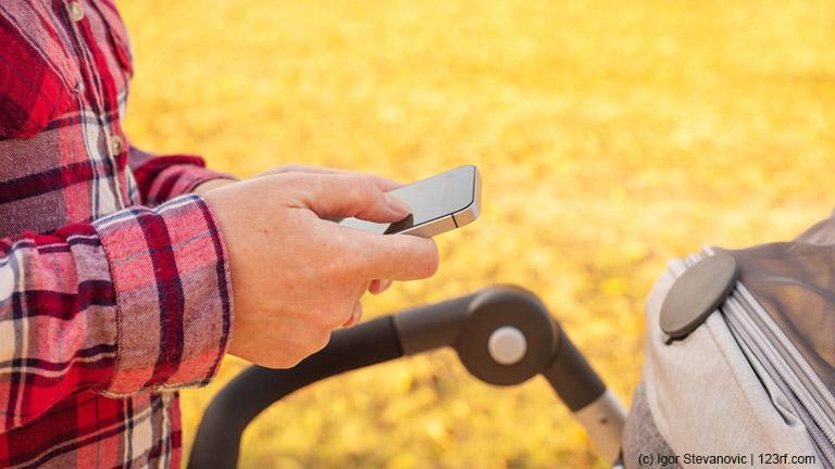 Smartphone Kinderwagen