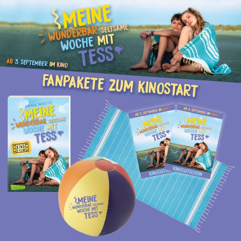 """Zum Kinostart von """"Meine wunderbare seltsame Woche mit Tess"""" am 3. September verlosen wir vier Fanpakete"""