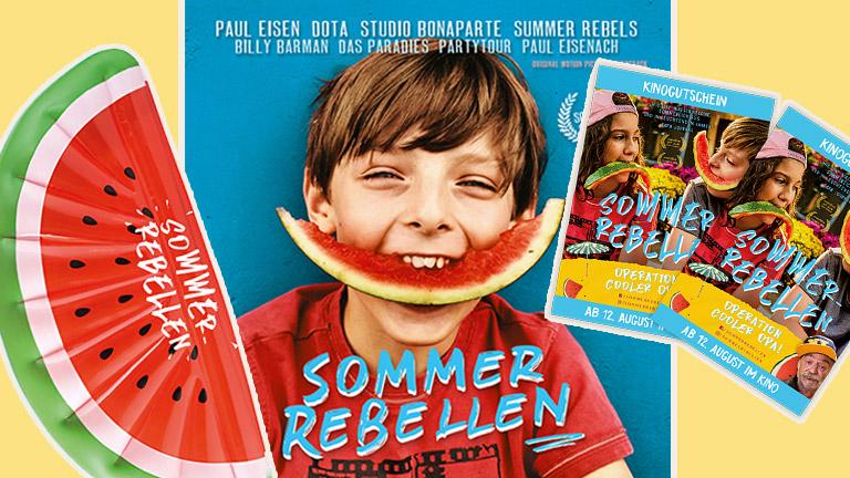 Bei unserem Gewinnspiel zum Kinostart von Sommer-Rebellen könnt ihr drei tolle Fan-Pakete gewinnen.