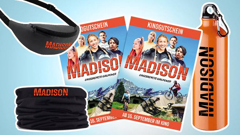 """Bei unserem Gewinnspiel zum Kinostart von """"Madison"""" könnt ihr drei Fanpakete gewinnen."""