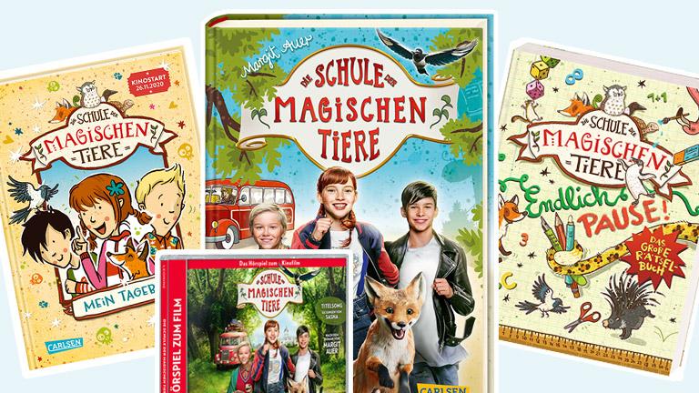 """Zum Kinostart der Verfilmung von Margit Auers Erfolgsbuchreihe """"Die Schule der magischen Tiere"""" am 14. Oktober verlosen wir zwei Fanpakete."""